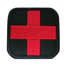 Medic Red Cross Medical Military Tactical Embroidered Hook and Loop Patch