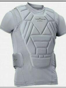 Easton - Torso Tection YXL Gray Padded Baseball Softball Shirt