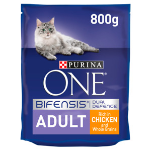 Purina ONE Premium Adult Cat Food Chicken & Whole Grains 800g