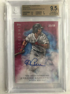 2017 Topps Inception Andrew Benintendi  auto #35/99 Red Sox Bgs 9.5/10