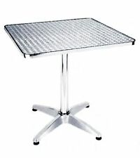 Tavolo quadrato 70x70 basso in alluminio da bar completa piano in acciaio inox