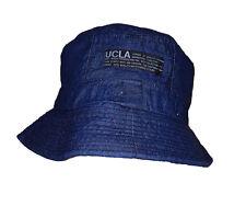 Cool Haute Qualité Double Couche Denim Bucket Hat Bleu