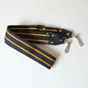 Navy Blue Yellow Striped STRAP for Guitar or Bag / Case or Camera etc.