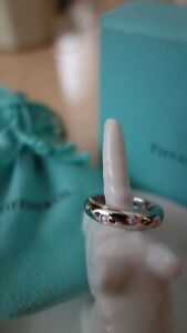 Tiffany & Co Platinum & Diamond Etoile Ring Size 5