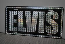 RETRO 1970'S PRISM ELVIS METAL LICENSE PLATE PINK CADILLAC CADDY LINCOLN STUTZ