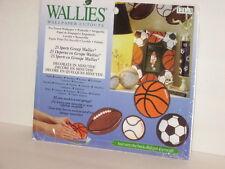 Wallies Wallpaper Cutouts Sports Football Baseball Soccer Basketball  25 Pieces