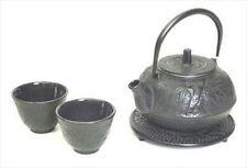 New listing Japanese Cast Iron Teapot Tea Set w/Trivet #ts20-06 S-2107 Au