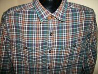 Men's Orvis Long Sleeve Button Down Flannel Shirt Size M Medium