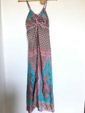 Lola Rosetta silk maxi dress size 8