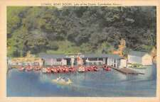 Camdenton Missouri Lowell Boat Docks Birdseye View Antique Postcard K57787