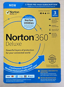 NORTON360 DELUXE  3 Devices 1Year NEW