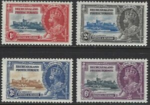 BECHUANALAND PROTECTORATE 1935 KG5 Silver Jubilee Set of 4 to 6d MLH/MNH