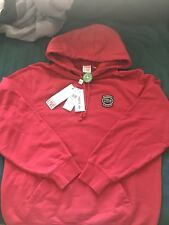 Authentic Supreme Lacoste Hooded Sweatshirt Red Size Medium Hoodie SS18 IN HAND