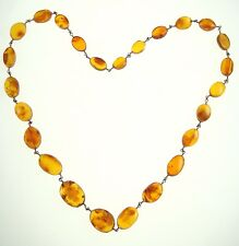 Perfect Gift Rare Nr 8567 Vintage Amber Women Lady Large Necklace