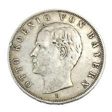 Pièce en Argent Allemagne Royaume de Bavière 3 Mark Otto I 1909 Germany Silver
