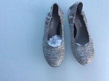 Maripe Ballerina weiß/schwarz Gr. 38.5 neu