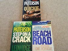 James Patterson 3 x UK 1st Ed Hardback - Beach Rd, Step on a Crack, The Quickie