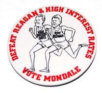 1984 anti reagan WALTER MONDALE campaign pin pinback button political president