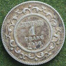 TUNISIE 1 FRANC 1916 A ARGENT