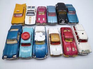 VINTAGE CORGI CARS x12: CHEVROLET CORVETTE AUSTIN TRIUMPH ROVER CITROEN 1960s