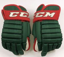 "Pro Stock Pro Return 15"" CCM 852 4-Roll Hockey Gloves Minnesota Wild"
