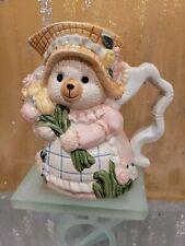 Vintage Oci (Fitz & Floyd) Easter Bunny With Flowers Creamer