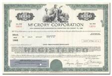 McCrory Corporation Bond Certificate (Famous Retailer)