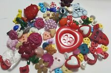 Colorful Fruit Bears Hearts Dinosaurs ABC Variety Children's Buttons Lot
