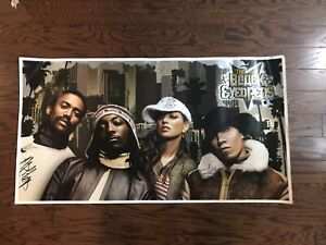 Black Eyed Peas Poster Autographed Tour Display!!! Rare!!!