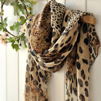 1PCS 160*40cm Leopard Skin Print Fashion Ladies Chiffon Scarf Womens Shawls