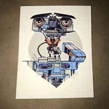 Tyler Stout Johnny 5 Pros Cons 5 V Short Circuit Mondo handbill poster print