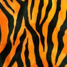"Orange Zebra Big Print Velboa Faux Fur Fabric - BTY - 58"" / 60"""
