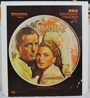 RCA VideoDisc CED - Casablanca Movie - Warner, c.1943