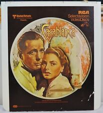 RCA VideoDisc CED - Casablanca Movie - Warner, c.1943