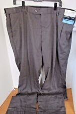 BRAGGI Big & Tall~Gray PLEATED FRONT CUFFED DRESS PANTS~Men's 44x34~NWT