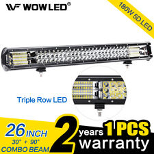 "26"" 180W Triple Row Combo Beam LED Light Bar Driving Light Super Bright LED Lamp"