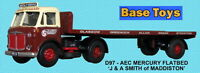 Base Toys AEC Mercury Artic FlatBed D97-Special OO Scale (suit HO also)