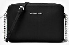 MICHAEL KORS Tasche Bag JET SET ITEM CROSSBODY Leder schwarz - silber 35F8STTC9L