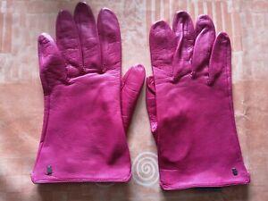 Damen Lederhandschuhe  von Roeckl Gr.7,5 in Pink ohne Futter