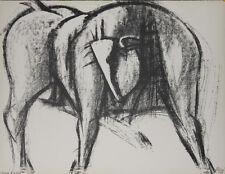 """""""Le taureau"""" Lithographie signée Isa PIZZONI"""