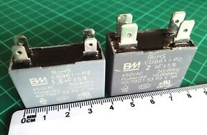 CBB61 motor fan start capacitor 0.5,0.8,1,1.2,1.5,1.8,2,2.5,3,4 uF UK-ref:968a