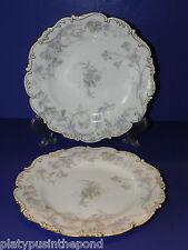 Vintage Cauldon Ware England Set of 2 Floral Plates
