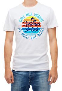 California Surfing Venice Beach Surfriders Short sleeve White Men T shirt K302