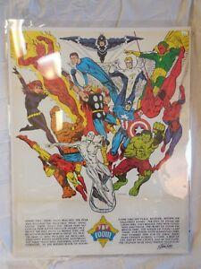 Foom Club Poster   Jim Steranko    Marvel Mania     1973