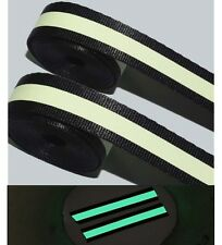 6 Yards Safety Glow in Dark Fabric Material Sew On Strip Embellishment Trim