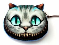 New Cute Cheshire Cat Purse Wallet Small Clutch Fashion Handbag Coins Pocket Bag