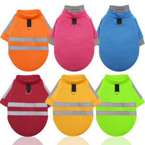 Cats Dogs Pet clothes Towable Reflective Hoodie For Walking  At Night Autumn