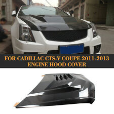 Front Engine Hood Cover Body Kit for Cadillac CTS-V Coupe 11-13  Carbon Fiber
