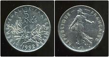 5 francs semeuse 1992