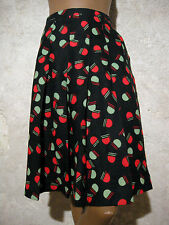 CHIC VINTAGE JUPE 1970 VTG SKIRT 70s MOD GRAPHIC ROCK 70er GONNA ANNI 70 (36/38)